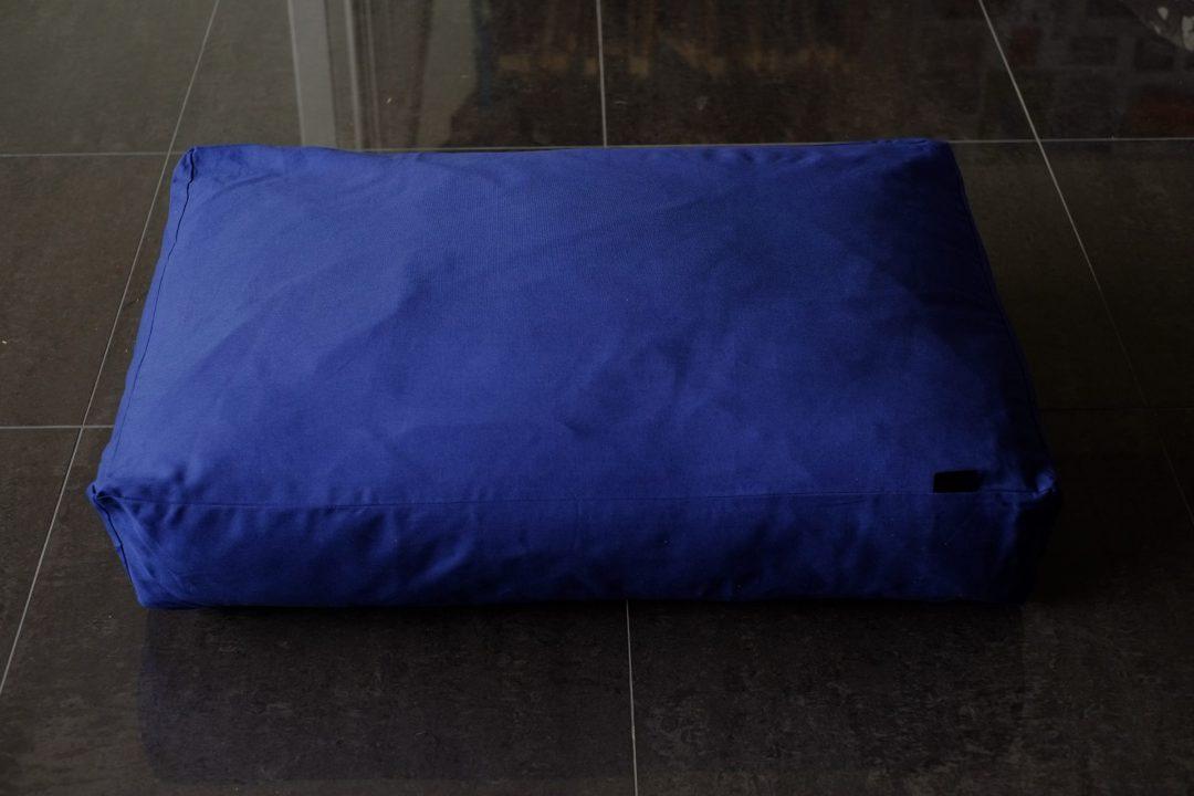 blauw hondenkussen katoen